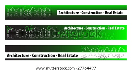 On web banner business card real estate architecture construction