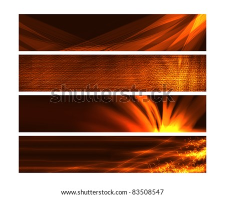 Web Banners - Fire and texture