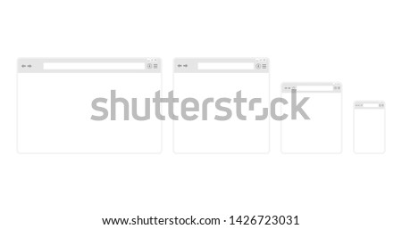 Web browser set on a white background