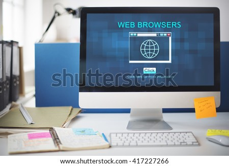 Web Browsers Online Technology Digital Connect Concept