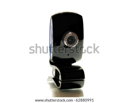 Web camera close-up isolated on a white background.