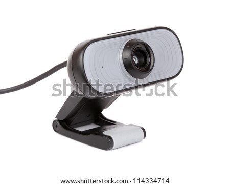 Web camera isolated on white