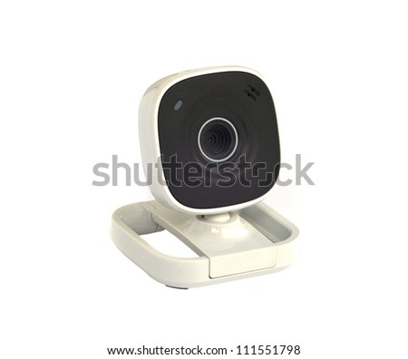 Web Camera Isolated on White Background