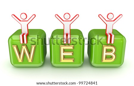 WEB concept.Isolated on white background.3d rendered, - stock photo