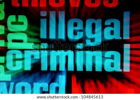 Web criminal - stock photo