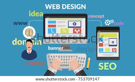 web design concept for your banner  #753709147