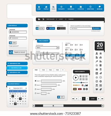 Web Design Element Blue