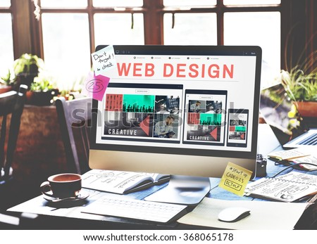 Web Design Software Technology Layout Blogging Concept