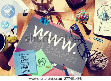 Web Design Web WWW Development Internet Media Creative Concept Foto stock ©
