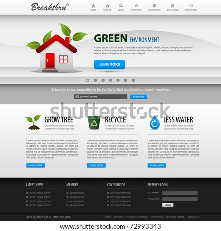 Web Design Website Elements Bright Template