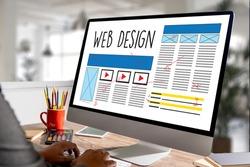 Web Design Website Homepage man work Web Design Online Content