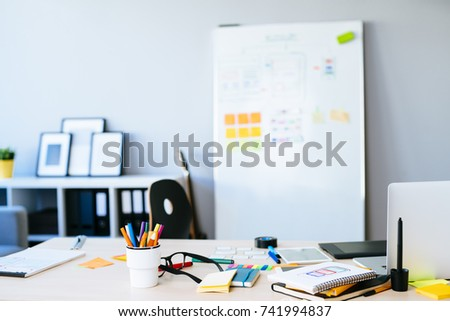 Web designer desk  #741994837