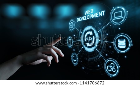 Web Development Coding Programming Internet Technology Business concept. #1141706672