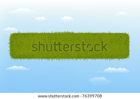 Web Grass Banner Element