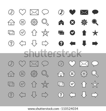Web icons set (raster version)