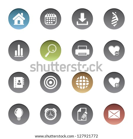 Web icons. Vector version also available in gallery.