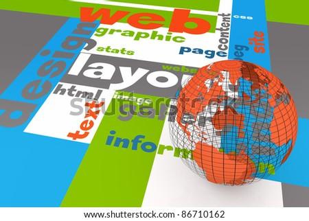 Web layout concept - stock photo
