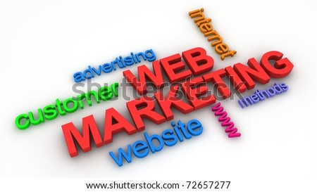 Web Marketing Concept - stock photo