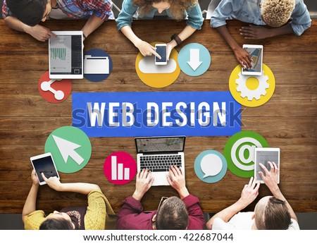 Web Page Design Development Graphic Concept #422687044