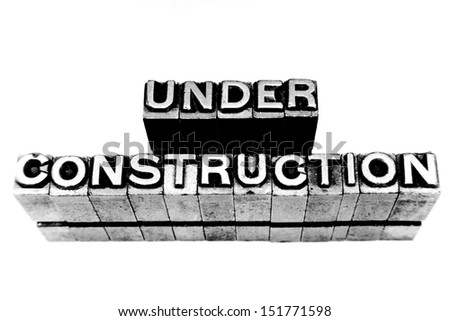 web page or other under construction
