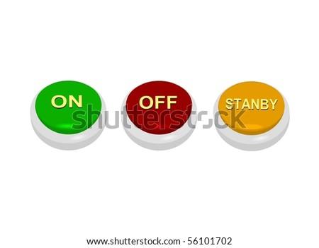 web power button - stock photo