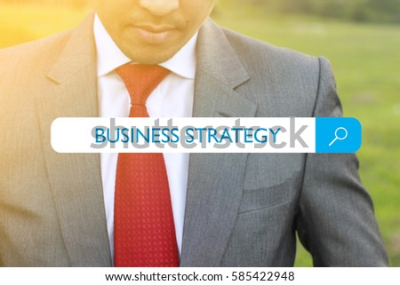 WEB SEARCH : BUSINESS STRATEGY CONCEPT