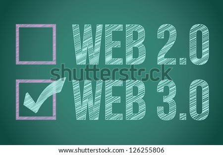 web selection on a blackboard illustration design graphic