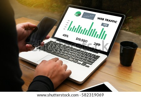 WEB TRAFFIC (business, technology, internet and networking concept ) #582319069