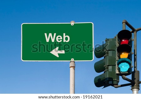 WEB Traffic Sign with Green light