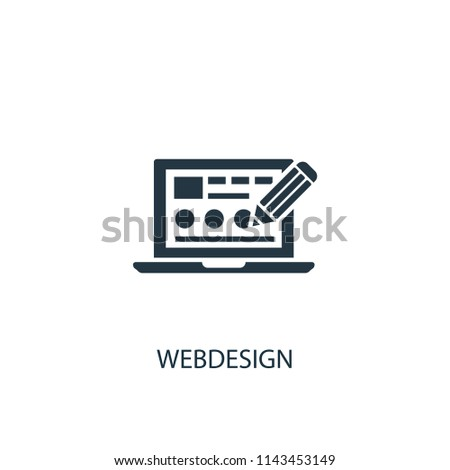 Webdesign creative icon. Simple element illustration. Webdesign concept symbol design from SEO collection. Can be used for web and mobile.