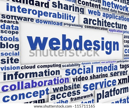 Webdesign message background. Internet technology poster design