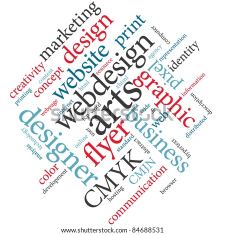 Webdesign word cloud.