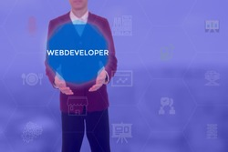 WEBDEVELOPER - technology and business concept