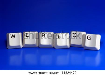 weblog - computer keys