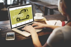Webpage Car Information Searching Transportation Style Concept
