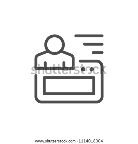 Website account line icon isolated on white