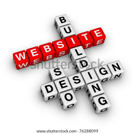 website building - stock photo