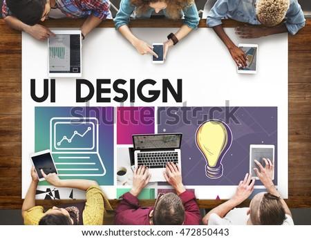 Website Design UI Software Media WWW Concept #472850443