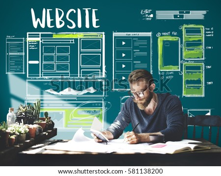 Website development layout sketch drawing