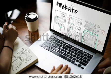Website development layout sketch drawing #581362618