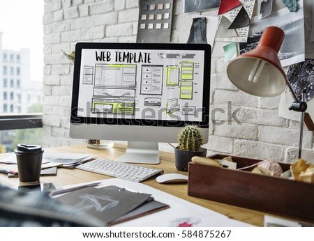 Website development layout sketch drawing #584875267