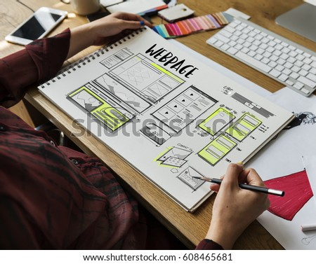 Website development layout sketch drawing #608465681