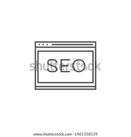 Website Optimization Related Thin Line Icon. Isolated on White Background.