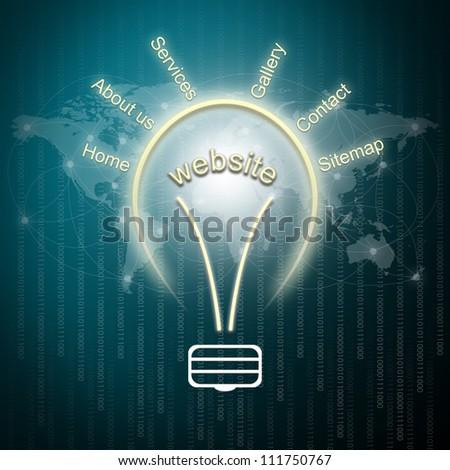 Website planning concept