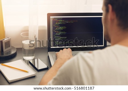 website programmer working on...