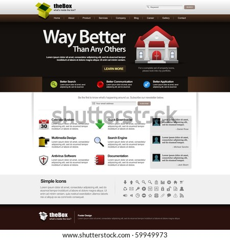 Website Web Design Elements Template - stock photo