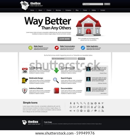 Website Web Design Elements White Template