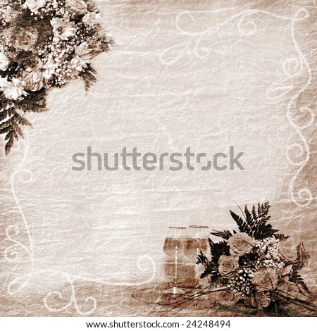 wedding, anniversary, holiday background - stock photo