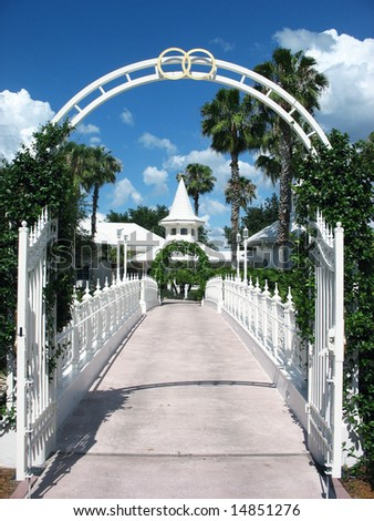 stock photo Wedding arch