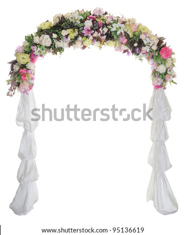 stock photo Wedding arch on white background
